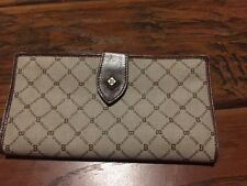 BALLY Clutch wallet purse Monogram Leather Authentic VINTAGE KISS LOCK