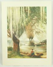 Steamboat Days Al Mettel Signed Vintage Art Lithograph Print