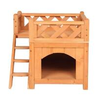 Confidence Pet Wooden Dog House//Kennel with Balcony