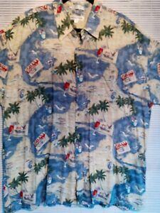 Pierre Cardin XXL Hawaiian Short Sleeve Shirt 100% rayon