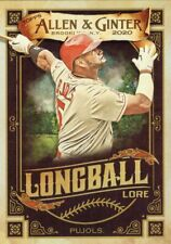 "Albert Pujols, Los Angeles Angels, 2020 Allen & Ginter ""Longball Lore"" card"