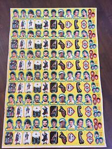 Vintage 1980 TOPPS SUPERMAN 2 Uncut SHEET 132 STICKER CARDS