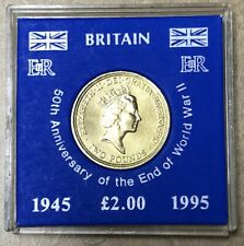 GREAT BRITAIN Queen Elizabeth II - 2 Pounds 1995 - 50th Anniversary End of WWII