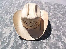 1907 Vintage Stetson Ranger 300 Tan Straw Long Oval Western Cowboy Hat 6 7/8