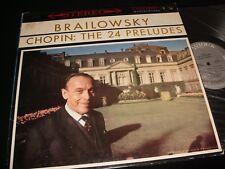 CHOPIN : 24 PRELUDES<>BRAILOWSKY<>MONO Lp VINYL~Can. Press~COLUMBIAMS 6119