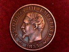 5 CENTIMES 1855 W Napoléon III tête nue Lille F.116/29 - SUP++/SPL