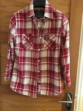 Red Check Superdry Shirt Size 12