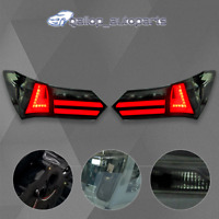 Pair Tail Lamps For Toyota Corolla ZRE172 2014-2017 Smoked LED Rear Lights