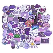 50Pcs Cartoon Purple Stickers Diy Suitcase Laptop Guitar Bicycle Car Decals Kw 00004000