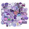 50Pcs Cartoon Purple Stickers DIY Suitcase Laptop Guitar Bicycle Car De Y!A