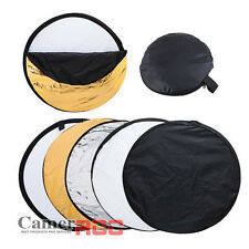 5 in 1 80cm Photography Photo Multi Collapsible Reflector Light Studio Gold UK