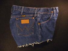 Wrangler Vintage CUTOFF JEAN SHORTS Cut Off High Waisted W 32 MEASURED Hot Pants