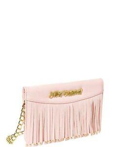Betsey Johnson Large Wallet On A String On The Fringe Blush Pink SEALED