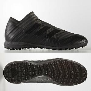 adidas Nemeziz Tango 17+ 360 TF Mens Astro Turf Football Boots Black Laceless