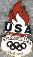 1996 Atlanta Original Flame Design USA Olympic Baseball Team NOC Pin