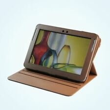PU Leather Rotating Stand Case Cover for Samsung Galaxy Note 10.1 Tablet Brown