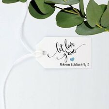Let Love Grow Tag, Wedding Favor Gift Tag, Personalized, Custom Made - size 1.25