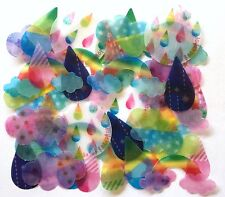 Lovely Kawaii Cute Rain Drop Rainbow Cloud Dot Flake Sticker 40 Scrapbook JAPAN