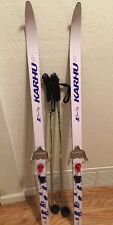 KIDS KARHU BEAR CLAW SKIS 130 CM Rottefella Clips & Fischer Junior Poles 95 CM