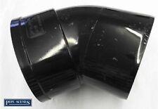 """Solvente 110mm suolo TUBO offset per la curvatura 45 ° Singolo Socket-Nero Incollato 4 """"ABS SFIATO"""
