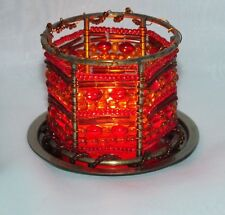 Partylite Moroccan Spice Beaded Tealight Rings ~ Excellent Pre-Owned Condition