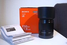 Sony E 50mm f/1.8 OSS Lens with Extras