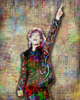 MICK JAGGER Rolling Stones Pop Art Poster, Stones Tribute 16x20in Free Shipping