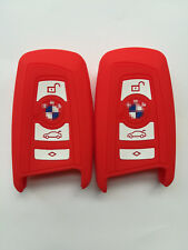 2pcs Red Fob Key Cover for BMW 1 3 5 6 7 X3 550i GT 528i 535i M5 X3 KR55WK49863