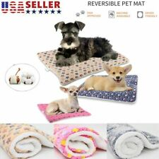 Dog Bed Soft Mat Puppy Dog Cat Crate Carpet Cozy Pad Cushion For S/M/L/XL Pet