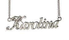 Collier Prénom KAROLINA 18K Plaqué or blanc - Accessoires De mariée Anniversaire