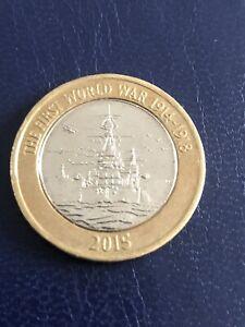 2015 Ww1 £2 Coin HMS Belfast 2 Pound