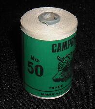 GENUINE VINTAGE CAMPBELLS IRISH LINEN THREAD 50 GRAM SPOOL COLOUR WHITEY B
