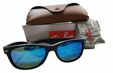 Ray Ban RB 2132-F New Wayfarer 622/17 55mm Blue Lens Sunglasses