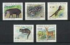 27335) EL SALVADOR 1993 MNH** Nuovi** Wild Animals 5v