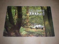 TRIUMPH 2000 MK 2. 1972. CAR SALES BROCHURE. MOTORING.