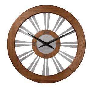 "*BRAND NEW* Bulova Oversized Woodhall 23.5"" Wall Clock C4118"