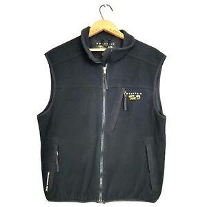 Mountain Hardwear Mens Size L Black Gore Windstopper Hiking Zip Up Fleece Vest