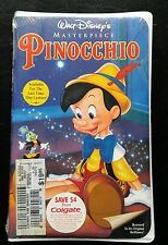 Pinocchio VHS NEW Walt Disney Masterpiece Collection Factory Sealed #2339