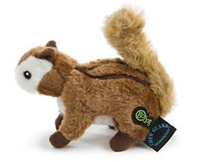 GoDog Wildlife Chipmunk Small Toy with Chew Guard