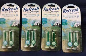 (4)Refresh Your Car Odor Eliminating Auto Vent Stick Summer Breeze/Alpine Meado
