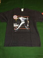 Vintage CHICAGO CUBS 34 KERRY WOOD Large T-SHIRT 2003 Adidas