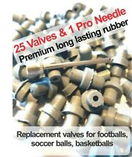 Fix Soccer ball, basketball, Volleyball,  25 valves+ Pro needle+repair flat ball