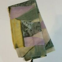 Eyeful Womens Geometric Print Infinity Scarf Yellow Gray Purple One Size