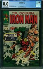 Iron Man # 6 CGC 8.0 -- 1968 -- Tuska cover.  Crusher #2004933025