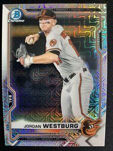 2021 Bowman Chrome Prospects Mega Box Mojo Refractor Jordan Westburg Pack Fresh
