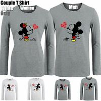 Mr Mickey MRS Minnie Kiss Design Couples T-shirt Men's Women's Graphic Tee Tops