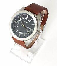 Original diesel señores reloj marrón plata negro de cuero dz1631 nuevo