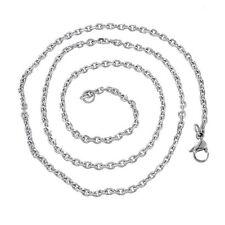 5 Colliers Chaîne Fermoir Mousqueton Acier Inoxydable Bijoux Création 51cm
