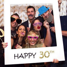 Happy 30th Birthday Party Frame Selfie Photo Booth Props On a Stick Hot