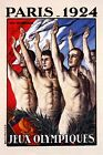 Paris 1924 Summer Olympics Games Athletes Oath Vintage Poster Repro FREE S/H